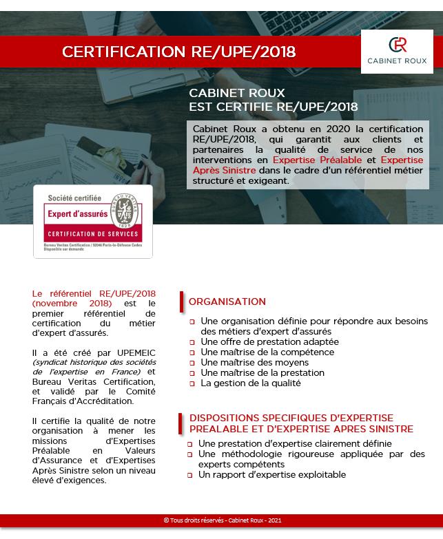 Information Certification RE-UPE-2018 revu HL-SC 20210406 validé par SD